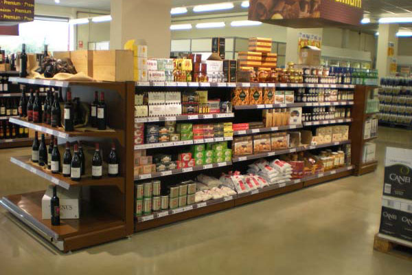 Equipamiento comercial estanter as almacenamiento for Muebles para supermercado